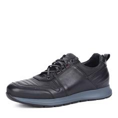 Черные кроссовки из кожи Respect