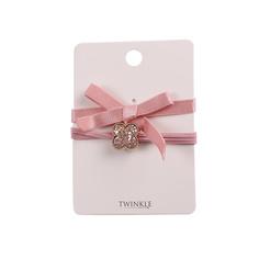 TWINKLE Резинки для волос 2 шт. Powder Pink