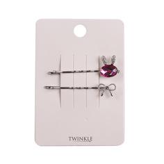TWINKLE Заколки для волос 2 шт. Glass Rabbit