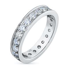 Кольцо из белого золота с бриллиантами э09к041750 ЭПЛ Якутские Бриллианты