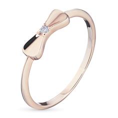 Кольцо из красного золота с бриллиантом гд02к081701 ЭПЛ Якутские Бриллианты