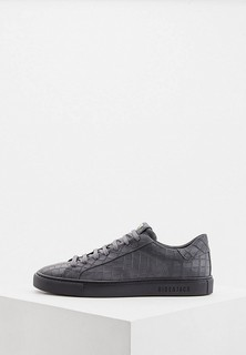 Кеды Hide & Jack Low Top Sneaker - ESSENCE - Nubuck Leather Dark Grey Croco with Black Sole