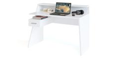 Стол компьютерный Альба (белый) Home Me