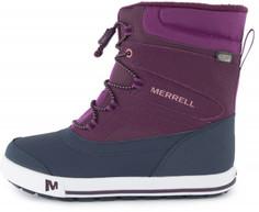 Ботинки утепленные для девочек Merrell Ml-Snow Bank 2.0, размер 33