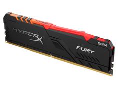 Модуль памяти HyperX Fury RGB DDR4 DIMM 2400Mhz PC-19200 CL15 - 8Gb HX424C15FB3A/8 Kingston