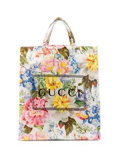 Gucci сумка-тоут с логотипом и принтом