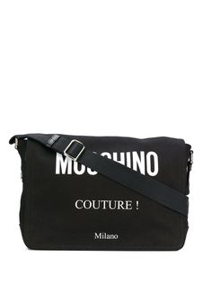 Moschino logo messenger bag