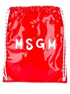 MSGM рюкзак с контрастным логотипом