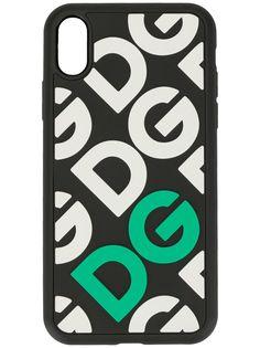 Dolce & Gabbana чехол для iPhone X с логотипом DG