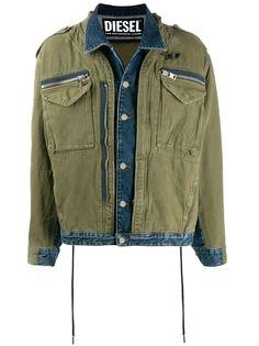 Diesel джинсовая куртка с карманами карго