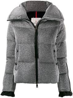 Moncler куртка-пуховик Bandama с эффектом металлик