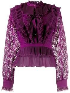 Just Cavalli блузка с ярусными оборками