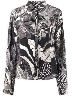 Just Cavalli блузка с цветочным принтом