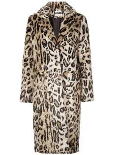Apparis длинная куртка с леопардовым принтом