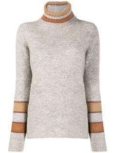 Eleventy свитер с высоким воротником и вставками