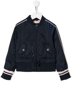 Boss Kids куртка-бомбер с контрастными полосками