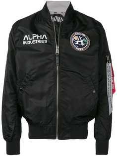 Alpha Industries куртка-бомбер с нашивкой-логотипом