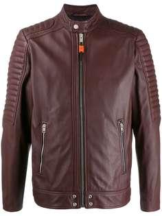 Diesel байкерская куртка со вставками