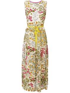 RedValentino длинное платье с цветочным принтом
