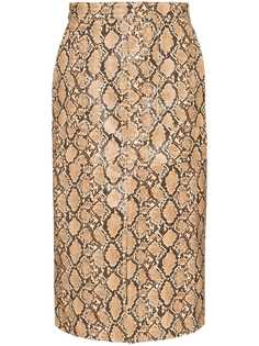 Johanna Ortiz юбка-карандаш Poema со змеиным принтом