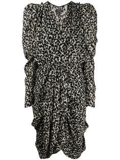 Isabel Marant платье Issolya с леопардовым принтом и оборками