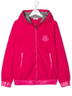 Moncler Kids куртка с капюшоном