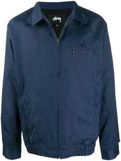 Stussy куртка-рубашка с принтом пейсли и логотипом