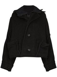 Y-3 трикотажная куртка с капюшоном