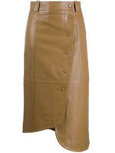 GANNI юбка миди асимметричного кроя с запахом