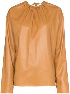 We11done блузка из искусственной кожи с открытой спиной