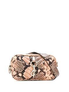 Rebecca Minkoff стеганая поясная сумка с тиснением под змеиную кожу