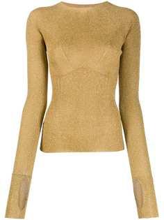 LANVIN свитер в рубчик с блестками