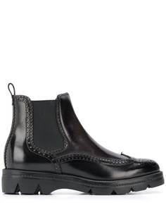 Santoni ботинки с тиснением