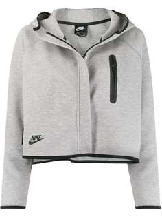 Nike укороченная куртка Tech Fleece с капюшоном