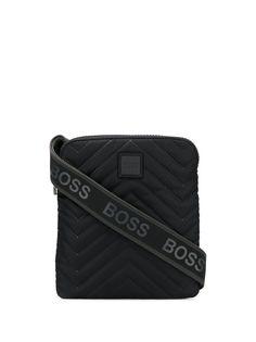 Boss Hugo Boss сумка-мессенджер с логотипом на ремне