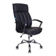 Кресло руководителя БЮРОКРАТ T-8000SL, на колесиках, искусственная кожа, черный [t-8000sl/bl+black]
