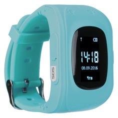 "Смарт-часы JET Kid Start, 54мм, 0.64"", черный / голубой [start light blue]"