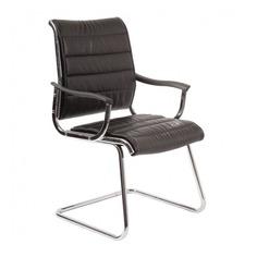 Кресло БЮРОКРАТ Ch-994AV, на полозьях, искусственная кожа, черный