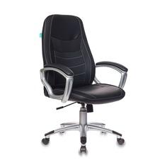 Кресло руководителя БЮРОКРАТ T-9910N, на колесиках, искусственная кожа, черный [t-9910n/black]
