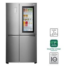 Холодильник LG GC-Q247CABV, двухкамерный, нержавеющая сталь