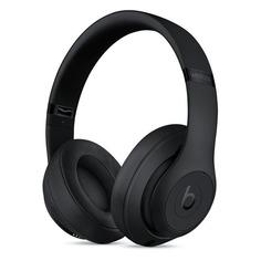 Наушники с микрофоном BEATS Studio3 Wireless, 3.5 мм/Bluetooth, мониторы, черный матовый [mq562ee/a]
