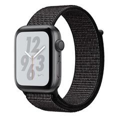 Смарт-часы APPLE Watch Series 4 Nike+, 40мм, темно-серый / черный [mu7g2/a]