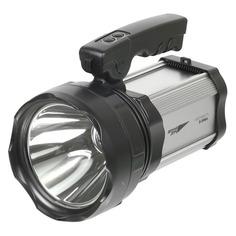 Аккумуляторный фонарь ЯРКИЙ ЛУЧ S-300A МЕГАВАТТ, черный , 10Вт
