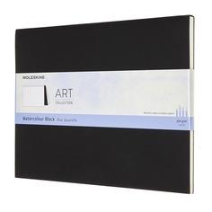 Блокнот Moleskine ART WATERCOLOR XLarge 190х250мм 72стр. нелинованный мягкая обложка черный 6 шт./кор.