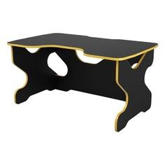 Стол игровой ВИТАЛ-ПК Райдер, ЛДСП, черный и желтый