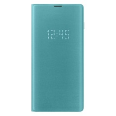 Чехол (флип-кейс) SAMSUNG LED View Cover, для Samsung Galaxy S10+, зеленый [ef-ng975pgegru]
