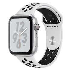 Смарт-часы APPLE Watch Series 4 Nike+, 40мм, серебристый / платиновый [mu6h2/a]
