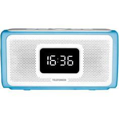 Радио-часы Telefunken TF-1705UB Light Blue/White