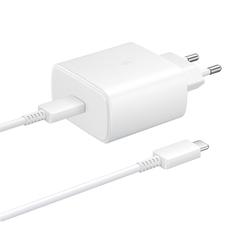 Сетевое зарядное устройство с кабелем Samsung EP-TA845 USB Type-C 45W White