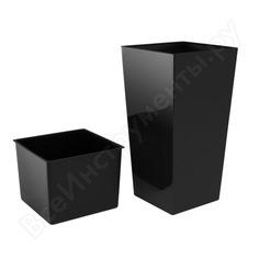 Кашпо для цветов 26,6л антрацит, 2 предмета prosperplast urbi square durs265-s433